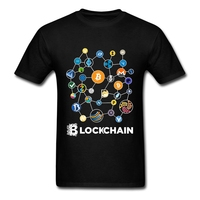 Blockchain Cryptocurrency Bitcoin Ripple Peercoin Qura Factom T Shirt Men 100 Cotton Peercoin Monero Litecoin Ethereum