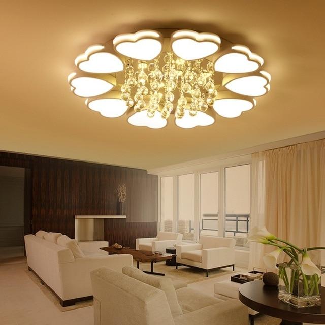 New Crystal modern led ceiling lights for livingroom bedroom Circle ...