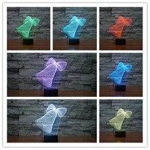 font b 2017 b font Beautiful 3D Small Bowknot Bell Lamp USB font b LED