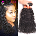 Mslynn kinky rizado pelo de la virgen 3 bundles brasileño de la virgen del pelo rizado armadura del pelo humano paquetes de pelo rizado afro rizado brasileño
