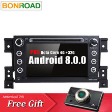 Bonroad RK3688 PX5 Android 8.0.0 RAM 4G IPS Screen DVD for Suzuki Grand Vitara gps navigation car Video Multimedia Player wifi(China)