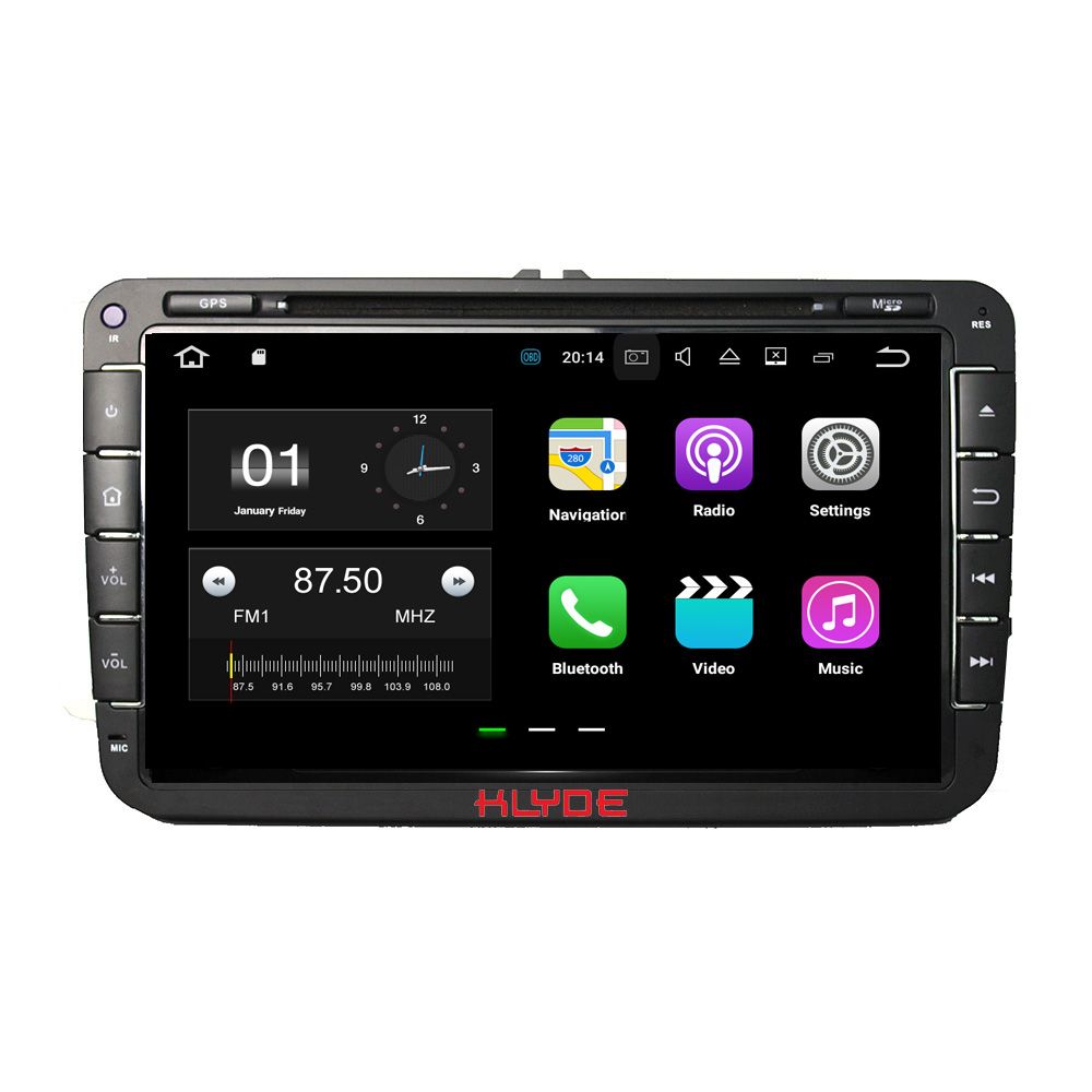 KLYDE 2 Din 8 Android 7.1 Car Multimedia Player For SKODA Octavia II III FABIA SUPERB 2005-2010 Car Radio Stereo Car DVD Player