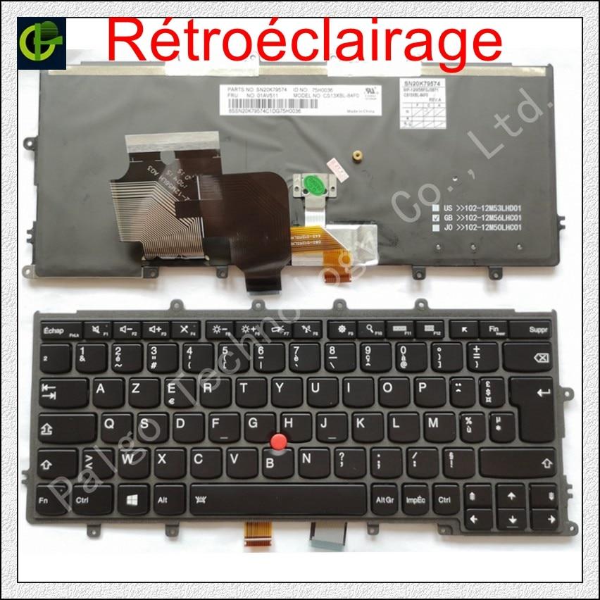 Francese Azerty Retroilluminato tastiera PER Lenovo IBM Thinkpad X230S X240 X240S X250 X260 0C44711 X240I X260S X250S X270 01EP008 FRFrancese Azerty Retroilluminato tastiera PER Lenovo IBM Thinkpad X230S X240 X240S X250 X260 0C44711 X240I X260S X250S X270 01EP008 FR