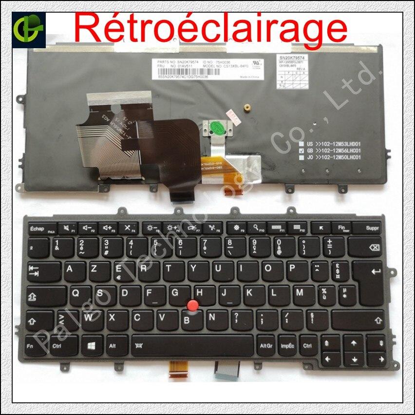 French backlit keyboard FOR Lenovo IBM Thinkpad X230S X240 X240S X250 X260 0C44711 X240I X260S X250S X270 01EP008 Azerty FR original 99% new high quanlity for lenovo x240 x240s x240i backlit laptop keyboard us