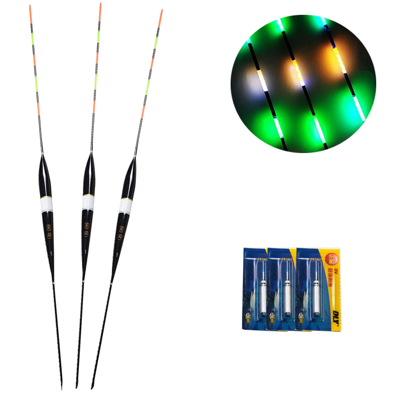 1PC  Luminous Electronic Float LED Fishing Float Electric Float Light + Battery Deep Water Float Fishing Tackle