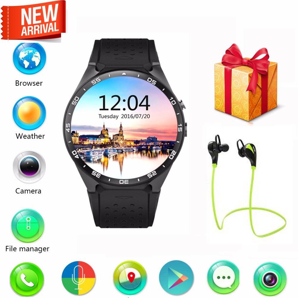 2016 KingWear Android 5.1 1.39 inch Amoled Screen 3G Smartwatch Phone MTK6580 RAM 512MB ROM 4GB GPS Gravity Sensor Pedometer