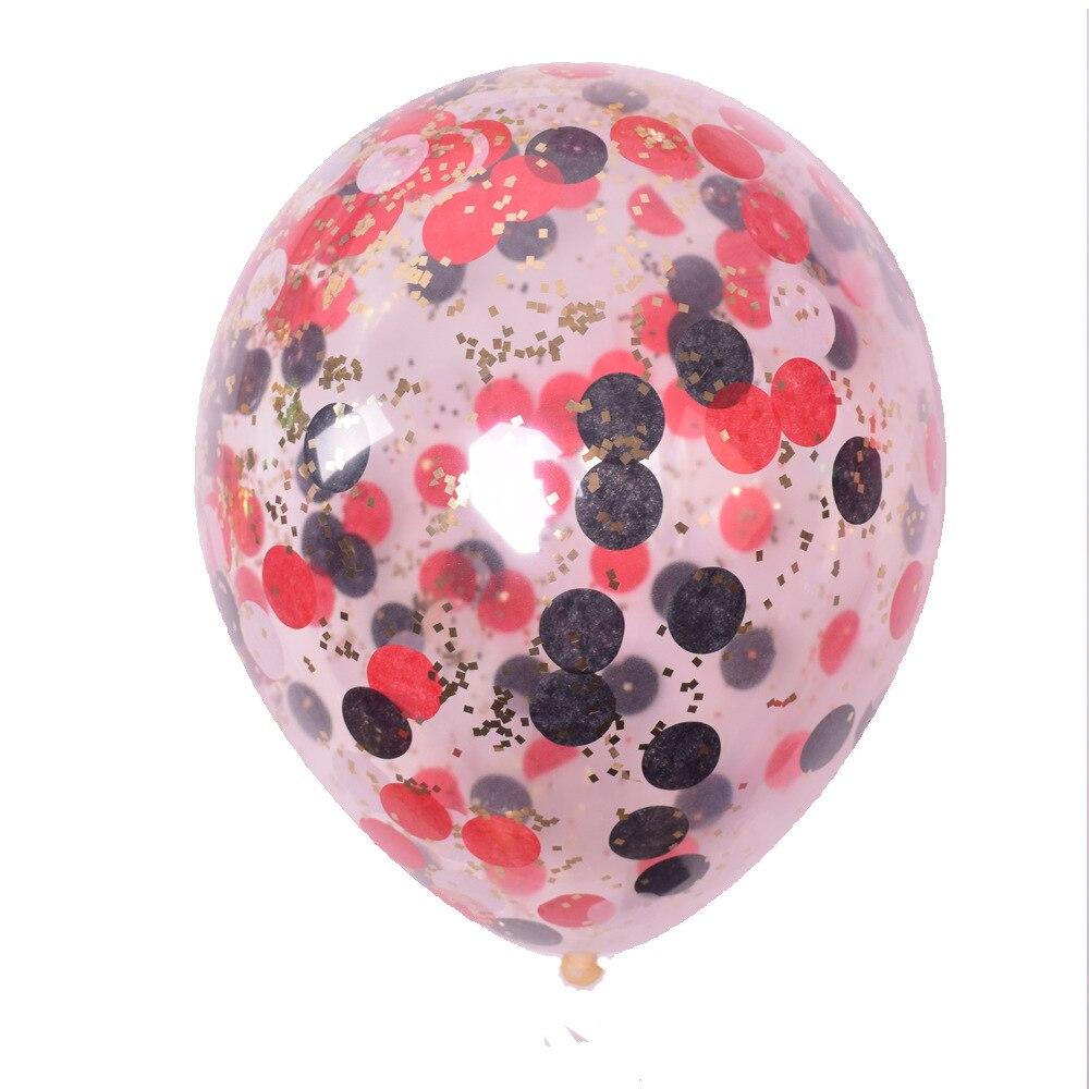 5 шт./лот золотые блестки воздушные шары конфетти Прозрачные Шары с днем рождения ребенка мультфильм шляпа Свадебная вечеринка украшения - Цвет: 1