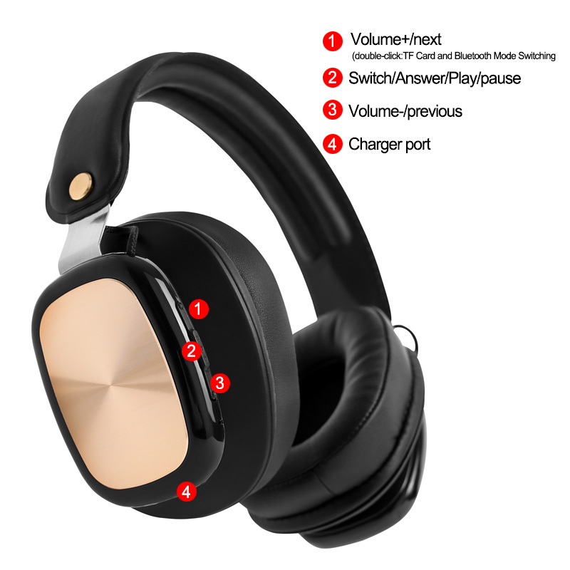 Business Wireless Sport Headphones Bluetooth Headset Stereo Sound Adjustable Headphones with Mic Support Hands free for Iphone in Bluetooth Earphones Headphones from Consumer Electronics