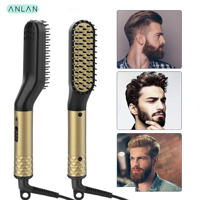 Multifunctional Hair Comb Brush Beard Straightener Hair Straighten Straightening Comb Beard Straightener Quick Hair Styler