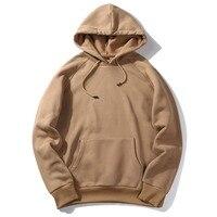 USA SIZE Fashion Color Hooides Men S Clothes Winter Sweatshirts Men Hip Hop Streetwear Solid Fleece