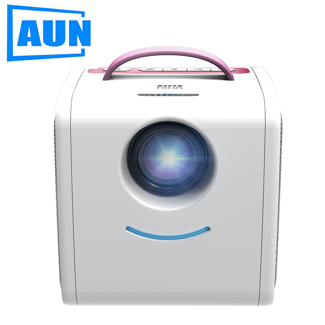 Big Sale AUN MINI Projector Q2, Children' Early Education Beamer, 700 Lumens, Children's gift,Parent-child LED Projector. Kids` Story