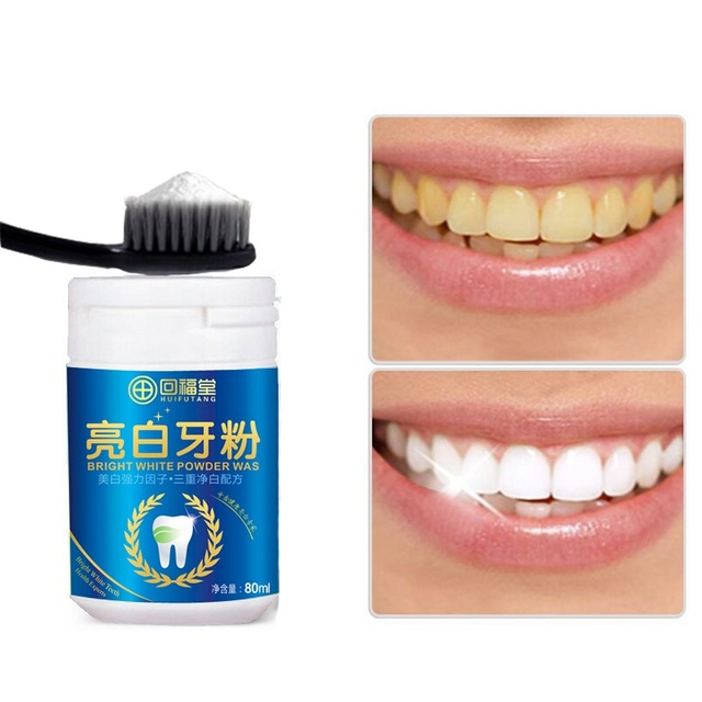 80ml Natural Pearl Tooth Brushing Powder Clareamento Dental Physical