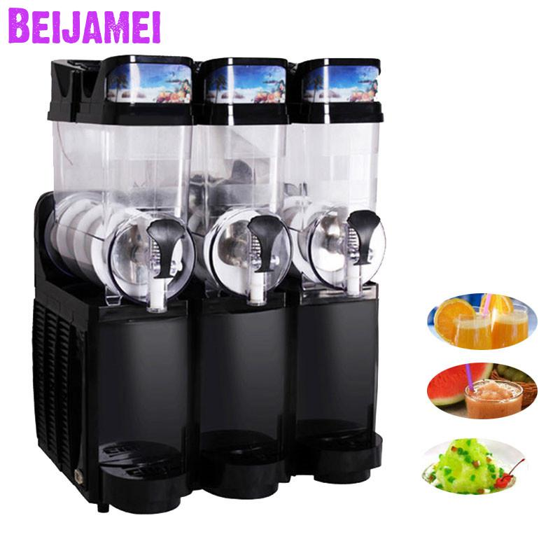 Beijamei Restaurant Three Tanks Snow Melting Machine Smoothie Slush Machines Commercial Slush Drink Making For Sale