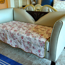 Custom Size Luxury Pastoral Romantic Flowers Couch Sofa Cover / Elegant High Quality Bed Room Living Room Slipcover for Sofas