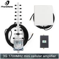 65dB 3g CDMA 1700 МГц сотовых телефонов сигнала усилитель повторитель усилитель с направленным внутренняя панель телевизионные антенны и gsm антен