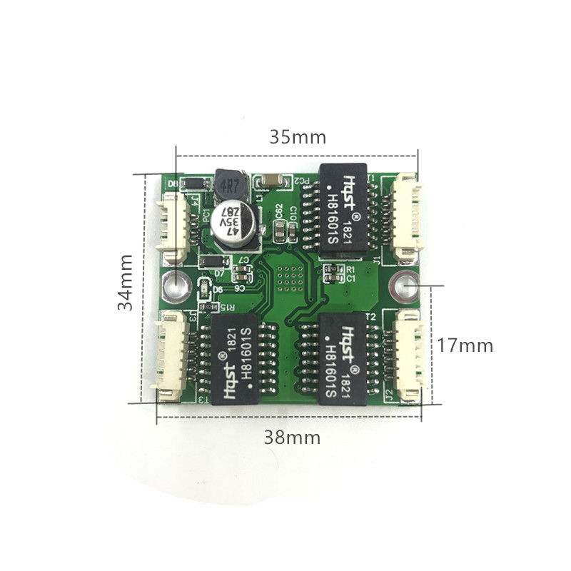 Mini PBCswitch module PBC OEM module mini size 3 4 Ports Network Switches Pcb Board mini ethernet switch module 10 100Mbps ODM in Remote Controls from Consumer Electronics