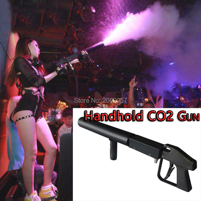 Hot sale high quality Handhold CO2 DJ Gun Lights 3Meter Hose CO2 Jet Machine DJ DISCO Stage Effect Machine Fast free shipping цена