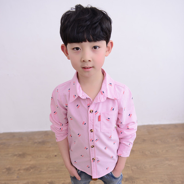 7ad25e538 Autumn boys shirt child 100% cotton tops children s clothing teenage ...