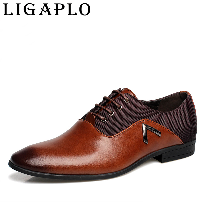 New Mens Oxford Shoes 2017 High quality Leather Fashion  Office Luxury Autumn  For casual Shoes Size38-44 Men's Flats цены онлайн