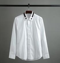 2017 Classic men long sleeve men's shirts and high-end business no-iron shirt S21