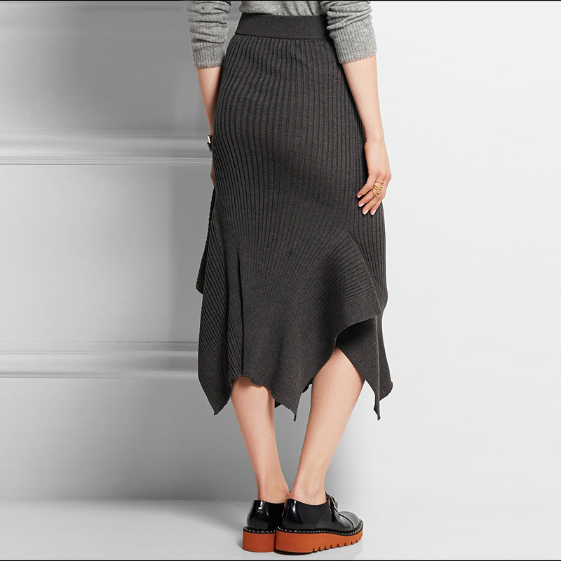 twotwinstyle knitted big size mermaid skirt autumn