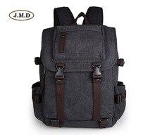J.M.D Men's Fashion Canvas Schoolbag Travel Backpack College Student Backpack Laptop Bags 9023A 9023C 9023K 9023N durable casual canvas laptop backpack blue color shoulders bag 9023k