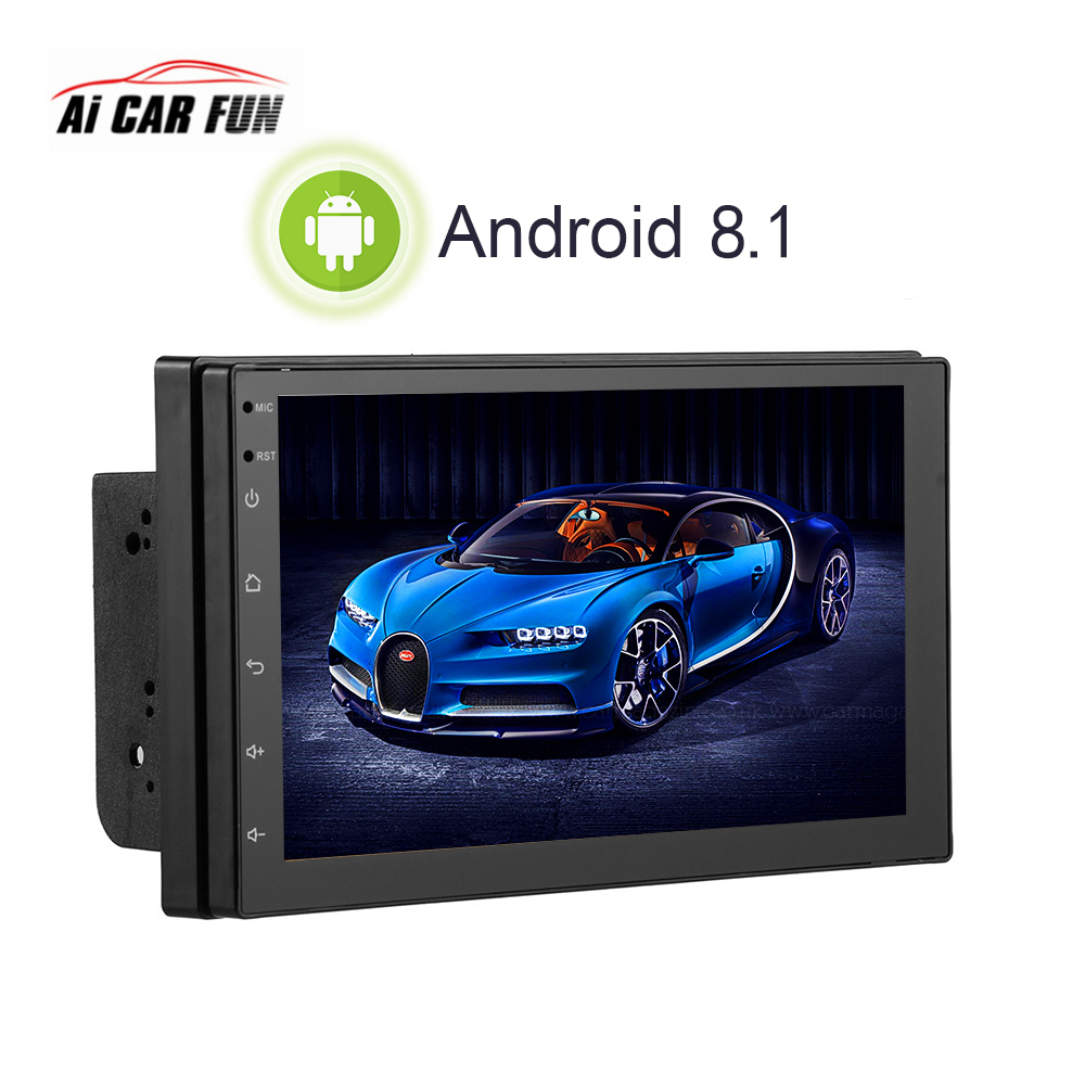 Android 8.1 7Inch 2Din Car Radio MP5 GPS Multimedia Player With Rear View Camera Bluetooth Call Phone Music Touch Screen Button