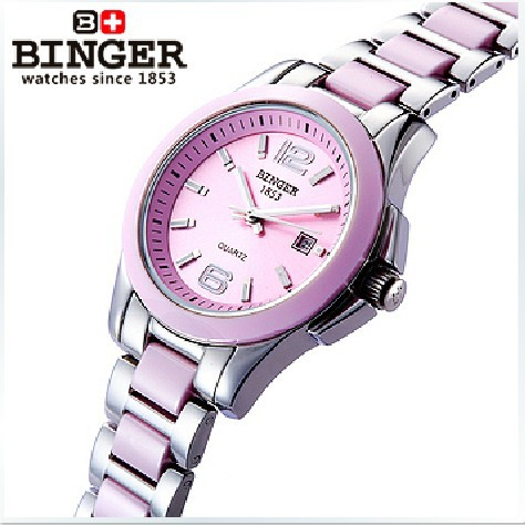 Ceramic Switzerland luxury brand BINGER Mechanical Wristwatches Women's watches lovers style 100M Water Resistance BG-0358-1 все цены
