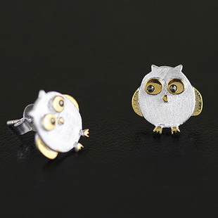 925 Sterling Silver Jewelry Owl Earrings For Women Statement Penntes Brincos In Stud From Accessories On