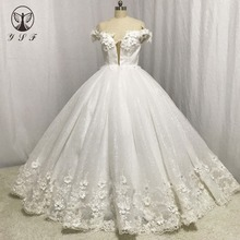 727dfb242ffe0 Buy 3d lace flower wedding dress and get free shipping on AliExpress.com