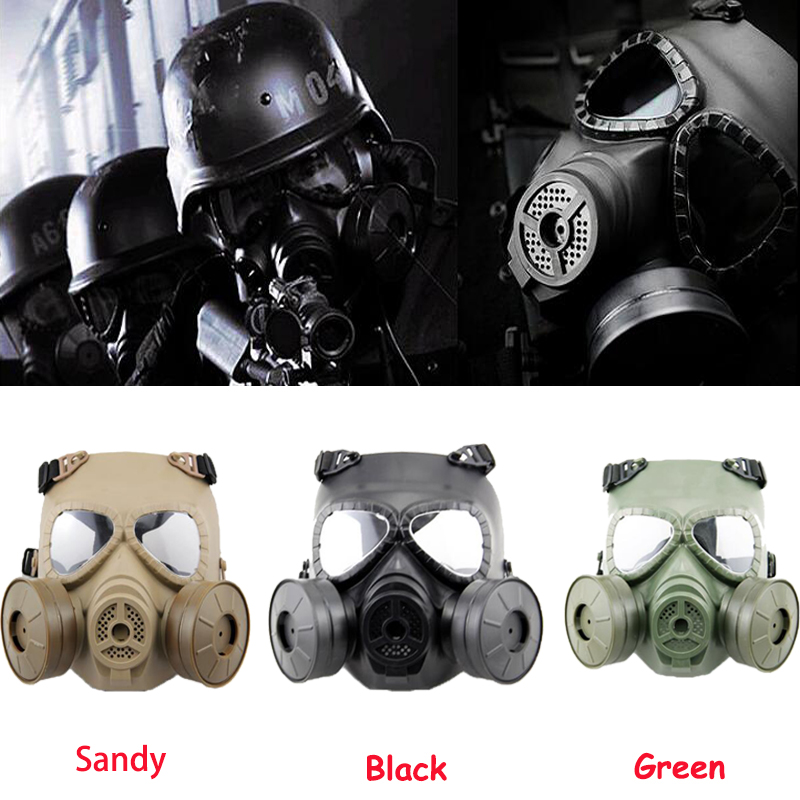 Tactical Protection Masks Full Face Airsoft Resin Mask With Double Fan For CS Cosplay Paintball Game Protection Respirator Mask цены онлайн