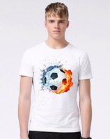 Summer World Cup Men S T Shirt Footbal 3D Design T Shirt Plus Size New White