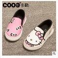 Envío gratis 2015 niños de zapatos planos lindos muchachos ocasionales de dibujos animados y niñas deportes de deslizamiento