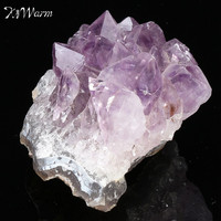 KiWarm 1PC Beautiful Natural Amethyst Gemstone Cluster Crystal Healing Stone Specimen Collectables For Home Decor Crafts