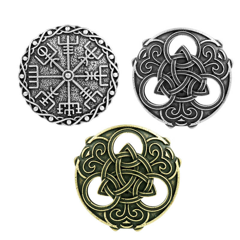 Redondo celts nó broche viking runas runic norse colar de jóias crachá pino viking broche cosplay corsage broches retro jóias