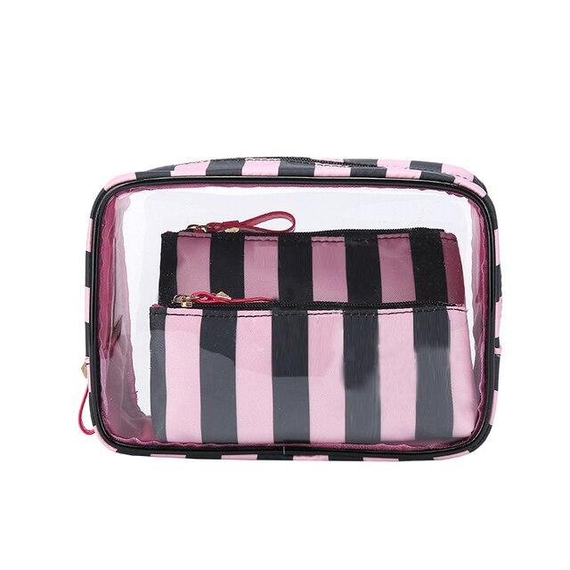 373d68c454d1 PVC Transparent Cosmetic Bag Travel Toiletry Bag Set Make-up Organizer  Pouch Makeup Case Beautician Vanity Necessaire Trip