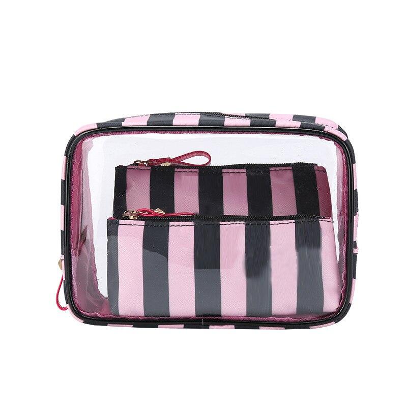 PVC Trasparente Sacchetto Cosmetico Borsa Da Viaggio Borsa Da Toilette Set Make-up Dell'organizzatore Del Sacchetto di Caso di Trucco Estetista Cosmetico Necessaire Viaggio