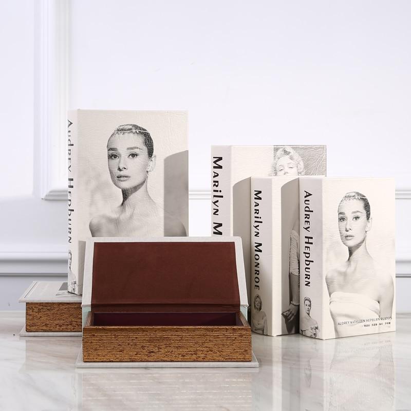 Cajas de almacenamiento de madera modernas Diccionario Secreto Hucha Libro de seguridad Oculto Caja fuerte Efectivo Dinero Joyas Contenedores Organización
