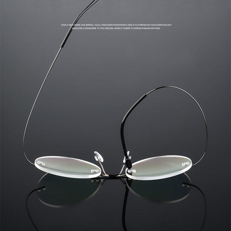 Round Rimless Eyeglasses Frame Optical Alloy Prescription Eyewear Glasses Frame for Men and Women Eye Glasses in Men 39 s Eyewear Frames from Apparel Accessories