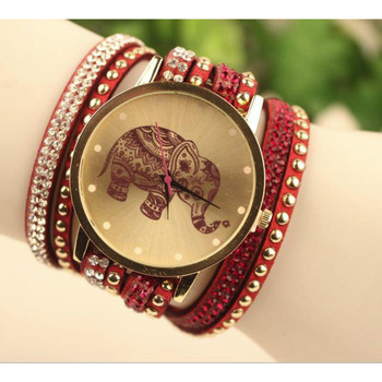 Fashion Bracelet Watch Clock Gift Woman Luxury Brand watches Elephant Watch Women Round Diamond Dress Jewelry Quartz Wrist Watch 1