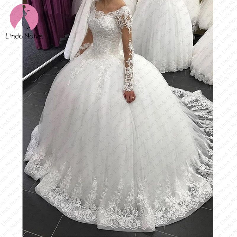 Vestido De Noiva Sexy 2019 New Arrival Lace Ball Gown Wedding Dress Vestidos De Casamento Sexy See Through Back Robe De Mariee