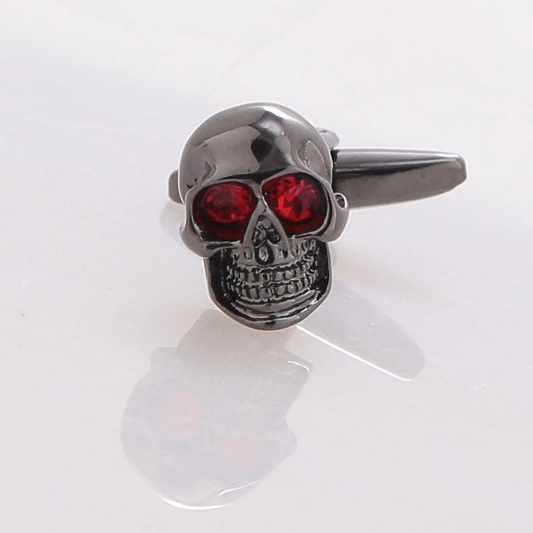 Hot sales Mens Superman cuff links black gun Skull cufflinks Superhero Skeleton Head Marvel Cufflinks for