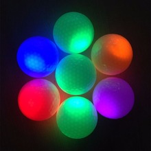 Light-up golfing fluorescence glowing flashing night balls wholesale light golf new