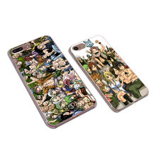 Fairy Tail Transparent Hard PC phone case for iphone