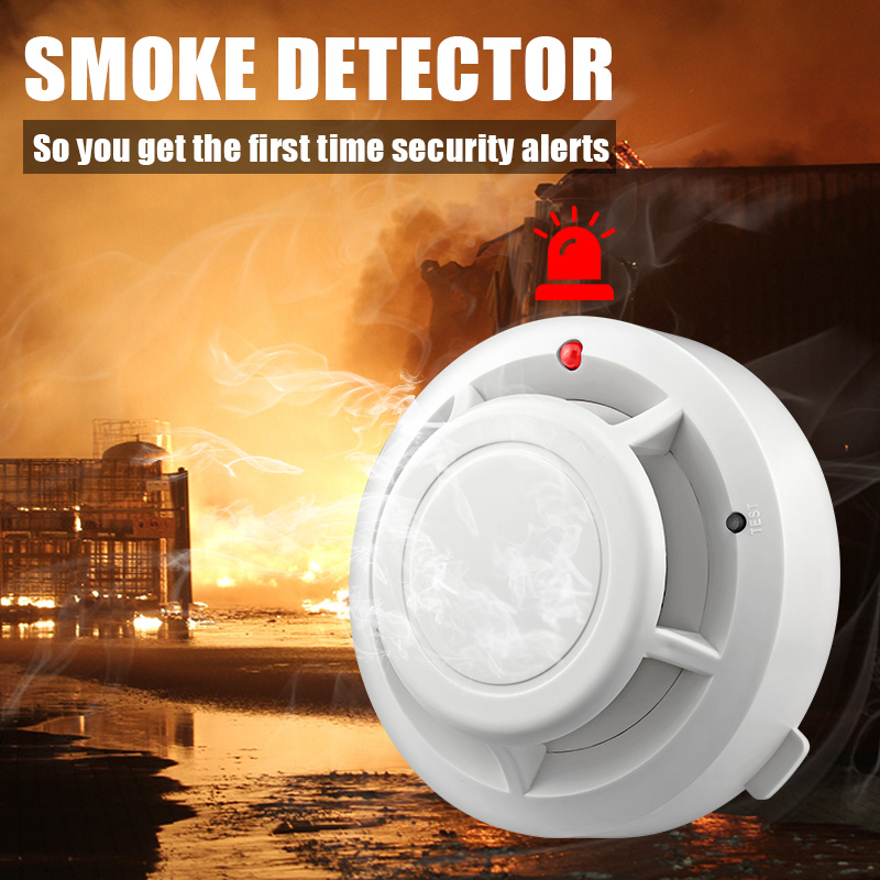 80dB Independent Home Kitchen Security Wireless Smoke Detector Fire Alarm Sensor Detector For Home House Office Security