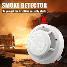 80dB niezależna kuchnia domowa bezpieczeństwo bezprzewodowa czujka dymu alarm przeciwpożarowy czujnik dla domu bezpieczeństwo biura tanie tanio KERUI 433MHz 80Db ( within 3m) 95 RH