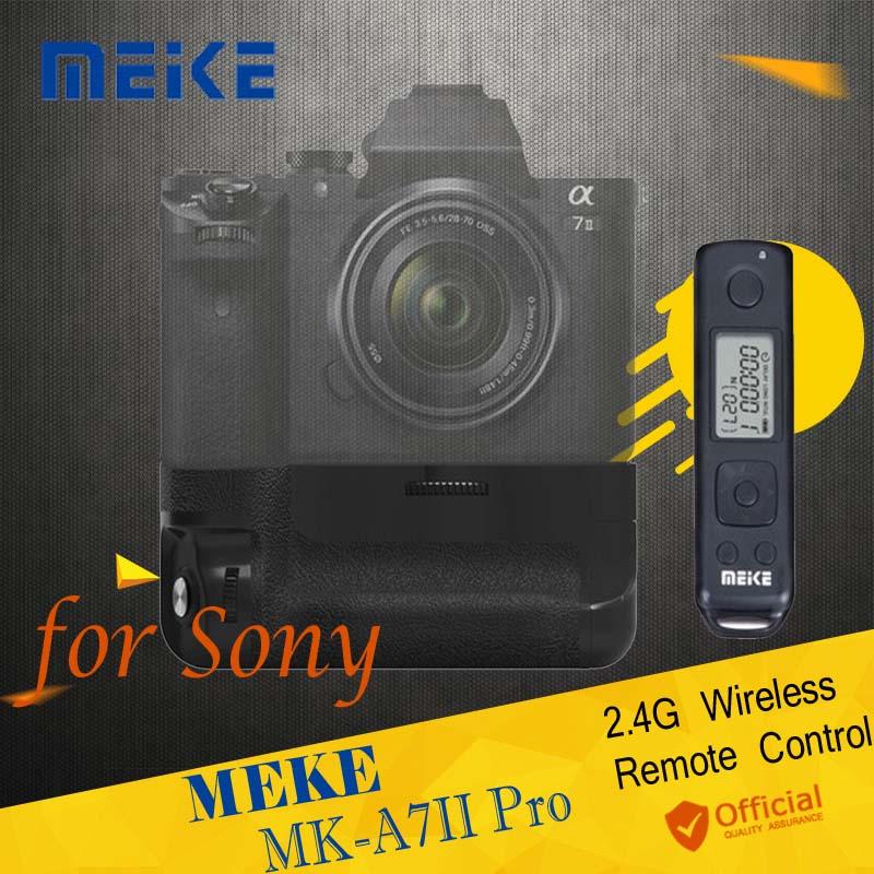 Meike MK-A7II Pro Built-in 2.4G Wireless Remote Control Battery Grip Holder for Sony A7 A7 II A7SII A7MII A7RII As Sony VG-C2EM батарейный блок sony vg c2em для a7 ii