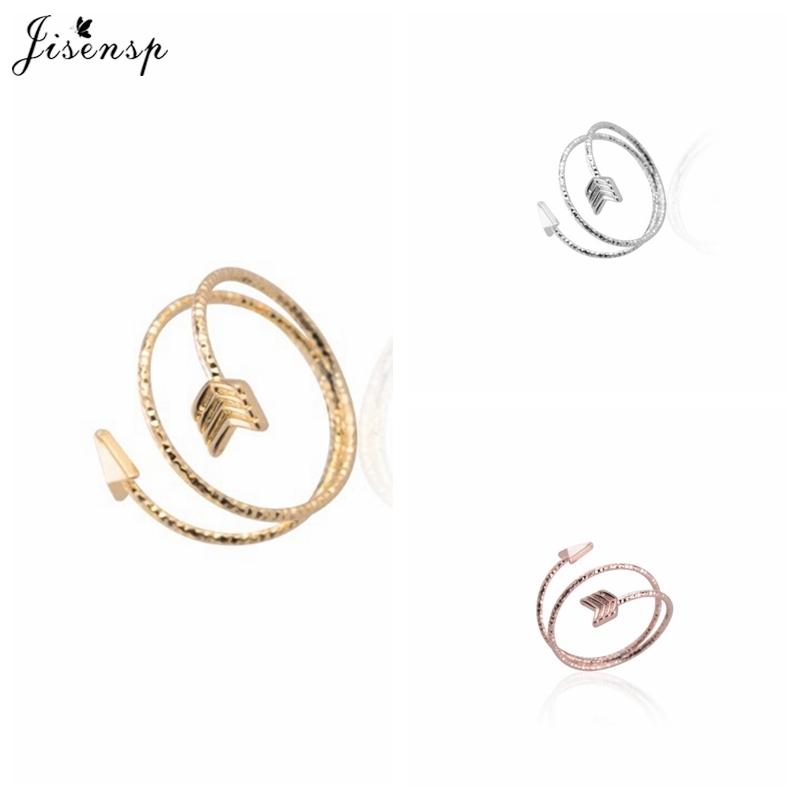 Jisensp 10pcs/lot New Arrival Fashion Silver Plated Arrow Rings for Women Adjustable Engagement Ring Statement Arrow Women Ring