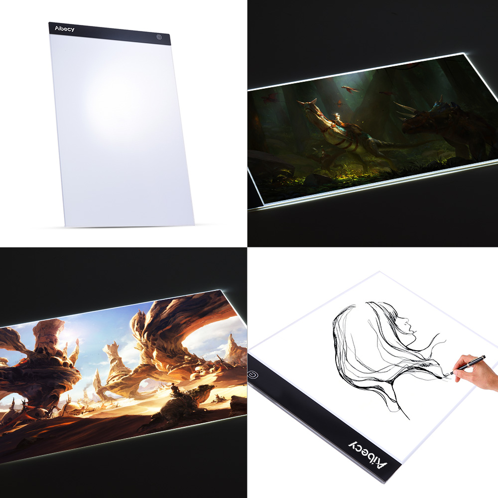 KKmoon Portable A3//A4 LED Light Box Drawing Tracing Tracer Copy Board Table Pad Panel Copyboard with Memory Function Stepless Brightness Control for Artist Animation Tattoo Sketching