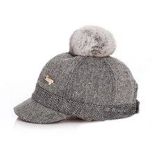 Kid's Fur-top Tweed Baseball Cap